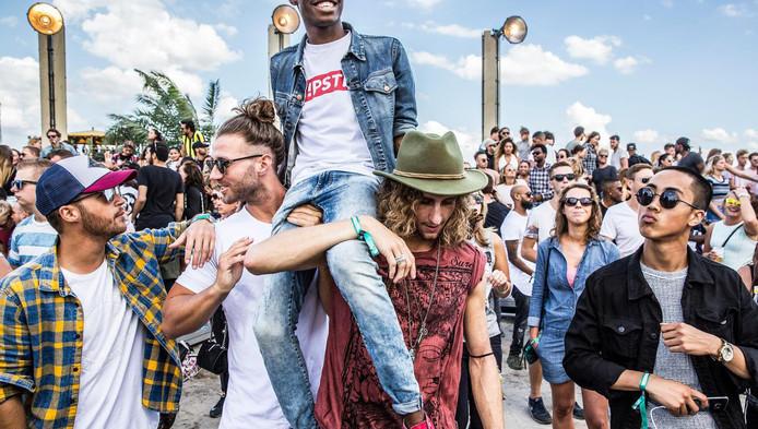 Bezoekers van festival Strafwerk