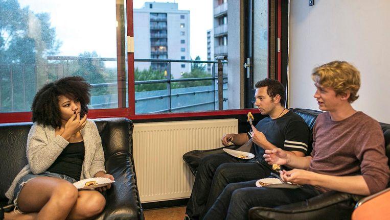 Internationale studenten in een studentenhuis in Diemen Beeld Marc Driessen