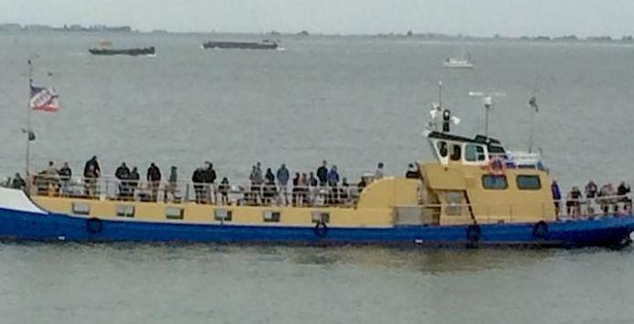 Franky Christiaens fotografeerde de Beatrix 2 tijdens het incident.