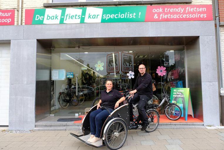 Michel Obourdin en Ellen Van Look van Bakfietskar Specialist.