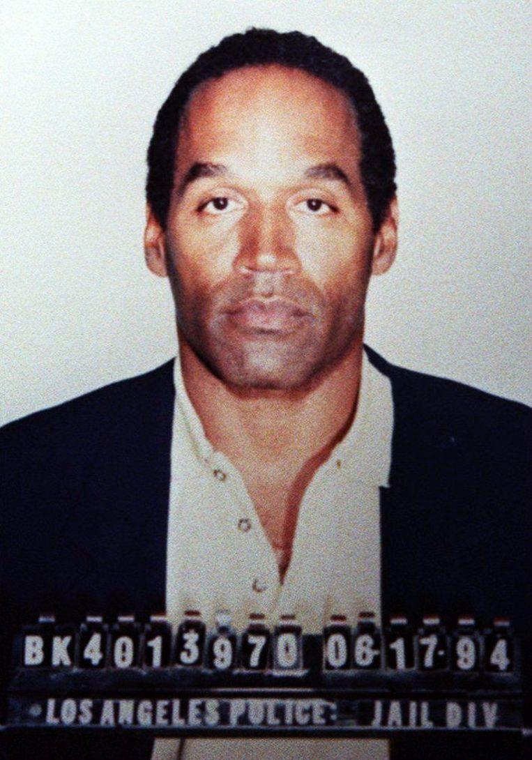 Politiefoto van O.J. Simpson. Beeld AFP