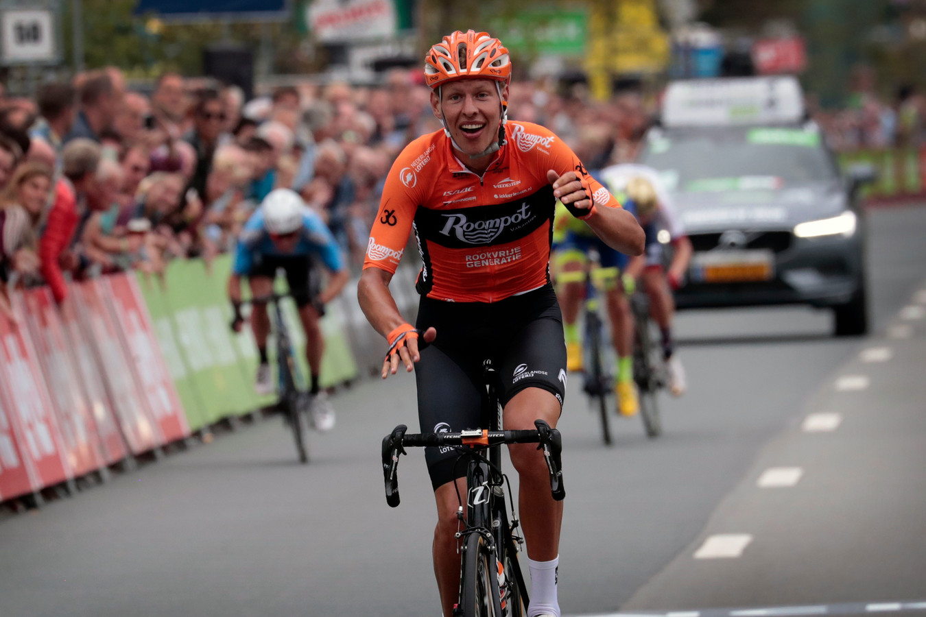Wageninger Taco van den Hoorn won vorige week een etappe in de Binck Bank Tour en rijdt nu in Veenendaal