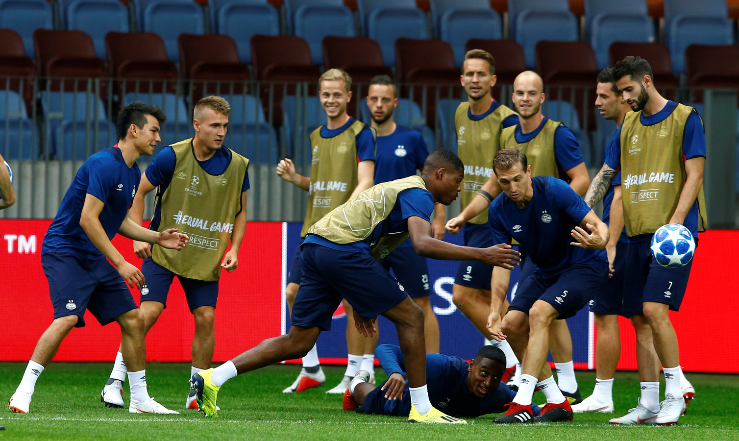 PSV in Borisov, waar het dinsdag tegen BATE speelt.