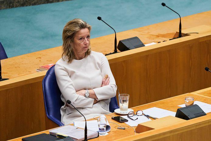 Minister Kajsa Ollongren van Wonen in een eerder debat.