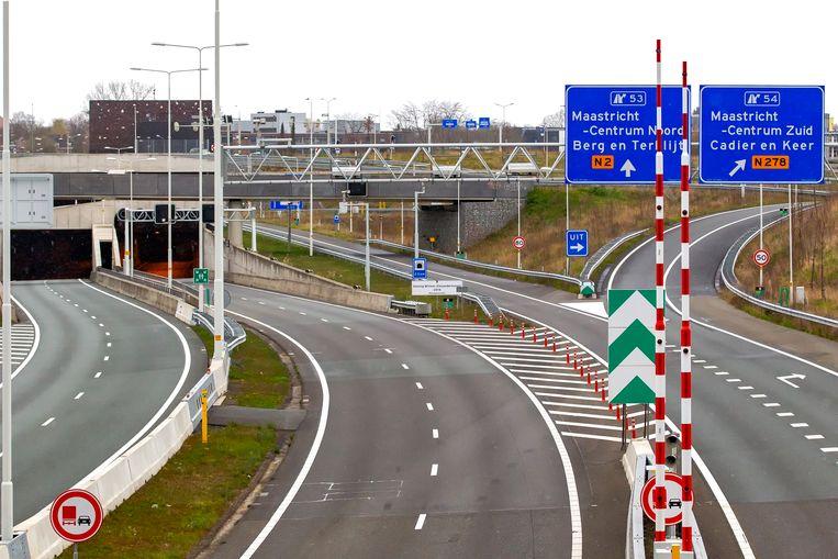 Maastricht, A2, geen verkeer Beeld BSR Agency