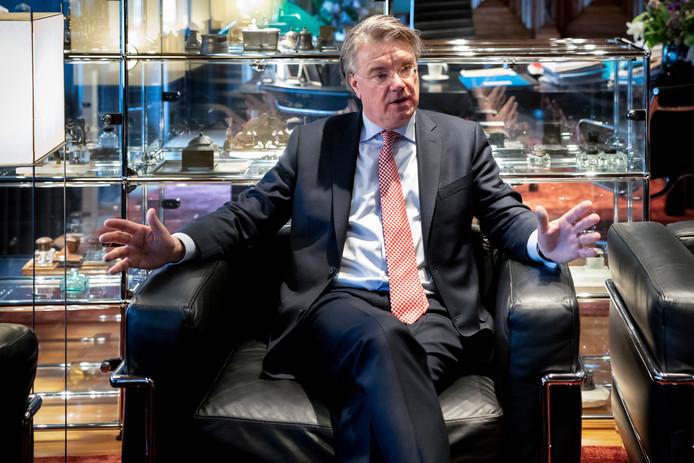 Commissaris van de Koning Wim van de Donk, op de dag dat hij bekendmaakte dat hij in oktober een andere baan heeft.