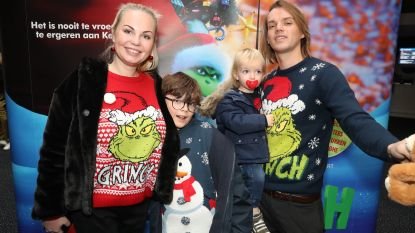 IN BEELD. Lesley-Ann Poppe trekt met haar gezin naar de première van 'The Grinch'