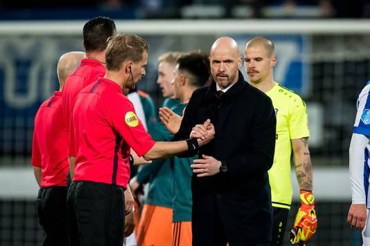 Erik ten Hag heeft het gevoel dat Ajax weer op de goede weg is.
