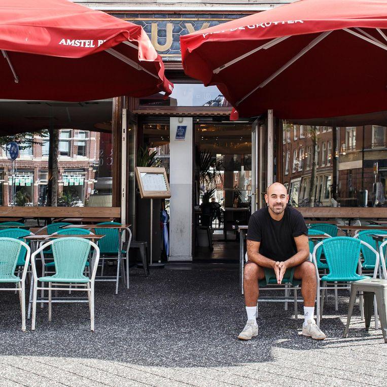 Het terras van Piet de Gruyter Beeld Carly Wollaert