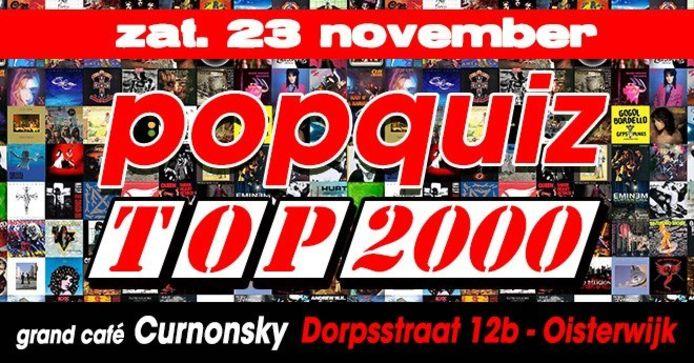 Popquiz Top 2000 bij Curnonsky in Oisterwijk