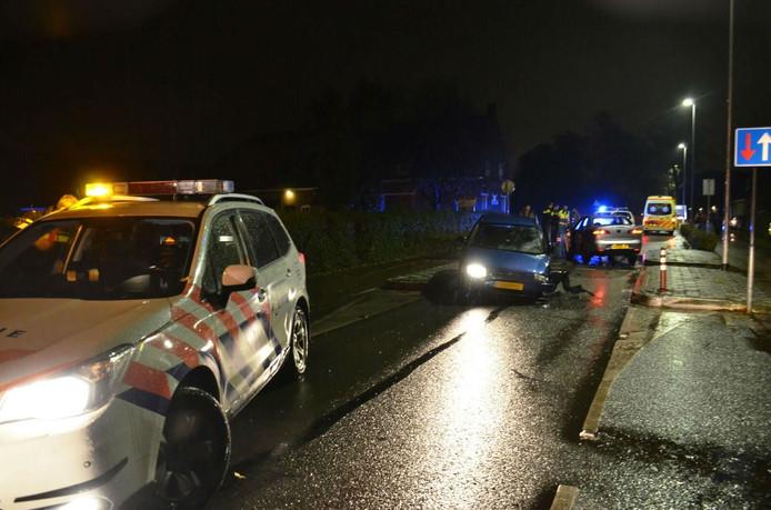 Ongeluk op de Eindsestraat in Dongen.