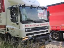Botsing tussen vrachtwagens zorgt voor file op A1
