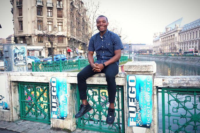 Moussa Sanoh in de stad waarin hij zich thuisvoelt: Boekarest.