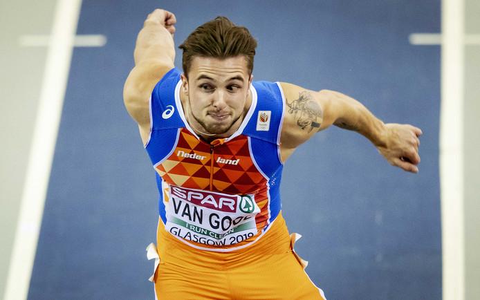 Joris van Gool, eerder dit jaar tijdens het EK Indoor Atletiek in Glasgow.