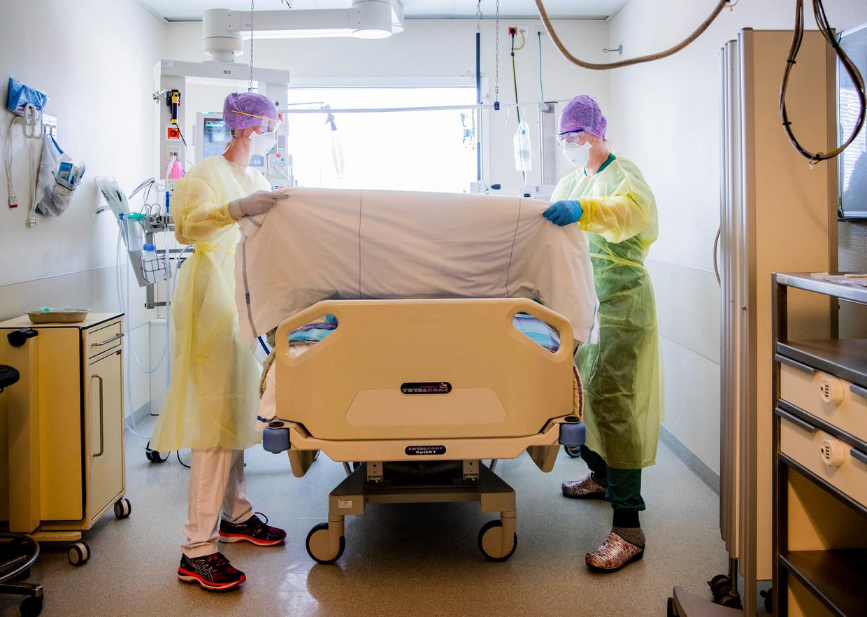De intensive care kamer in het HMC Westeinde ziekenhuis in Den Haag. Beeld ANP