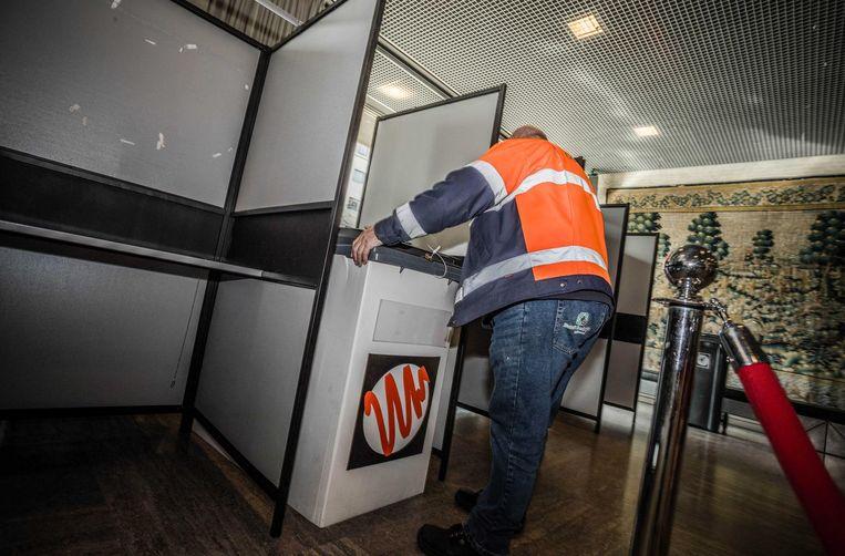 Eindhoven maakt zich op voor verkiezingsdag. Beeld null
