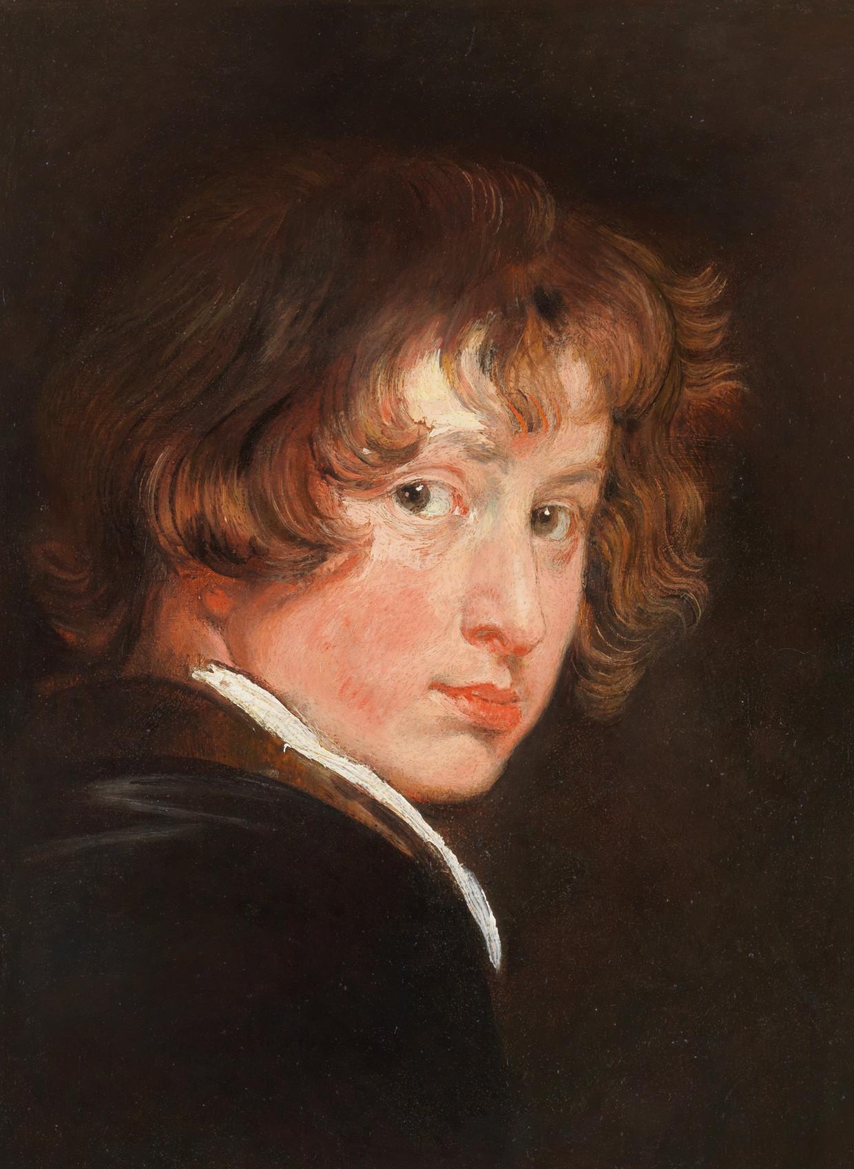 Meesterwerken uit Wenen - Noordbrabants Museum. Anthony van Dyck, Zelfportret op 15-jarige leeftijd, ca. 1615. Beeld Gemäldegalerie der Akademie der bildenden Künste Wien
