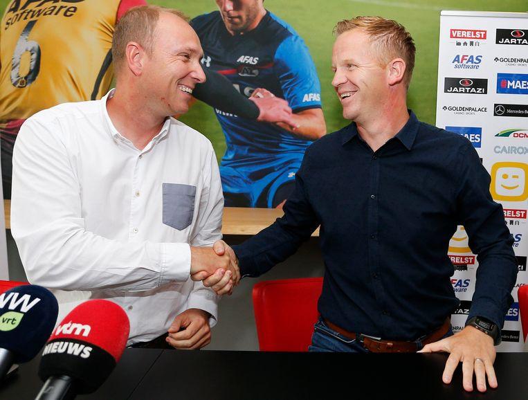 Hoofdaandeelhouder Olivier Somers blij met Wouter Vrancken.