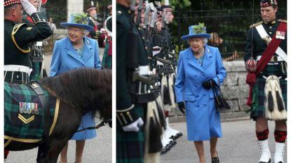 IN BEELD. The Queen verhuist naar haar zomerresidentie en ziet dat het goed is