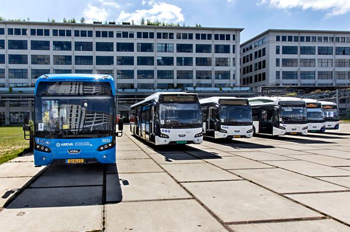 Elektrische bussen van VDL in Eindhoven.