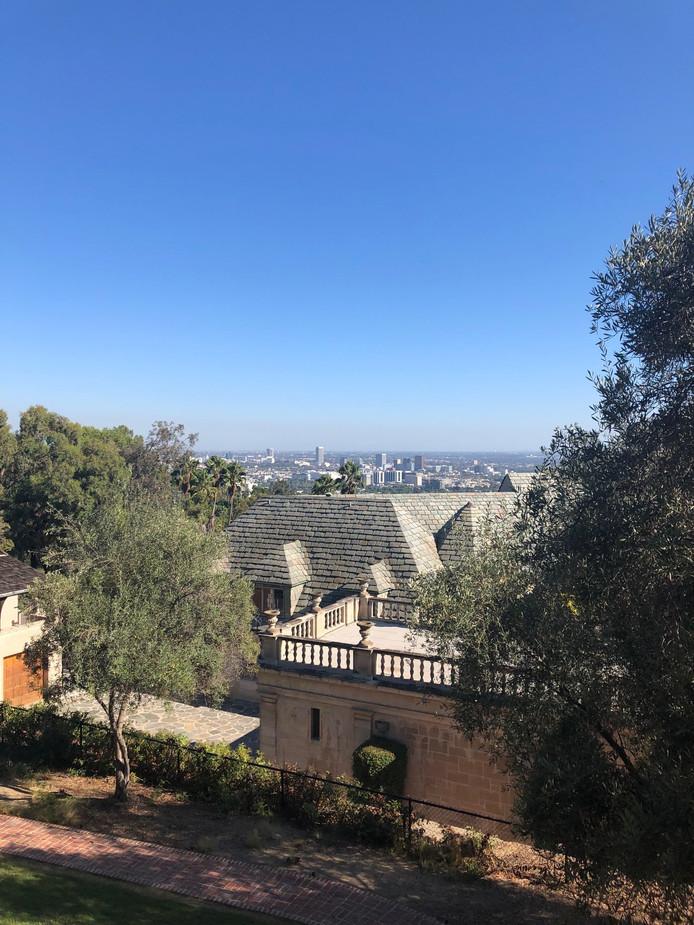 La vue sur Los Angeles depuis la Greystone Mansion.