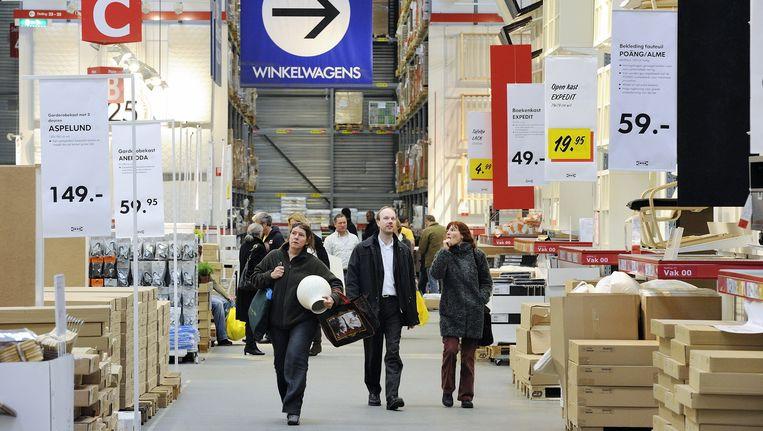 Het magazijn van een Nederlandse vestiging van Ikea. Beeld anp