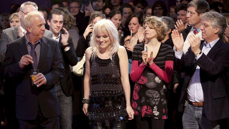 Ilse DeLange (midden) kreeg in 2009 een Rembrandt-award voor beste titelsong voor haar muziek bij Bride Flight. © ANP Beeld