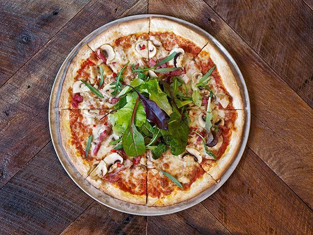 Pizza poulet chasseur
