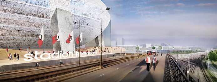 Het nieuwe stadion van Feyenoord is een belangrijk onderdeel van Feyenoord City.