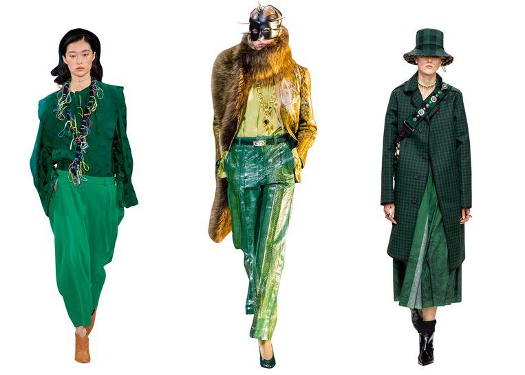 V.l.n.r: Stella McCartney, Gucci en Christian Dior. Beeld