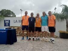 Patrick Marteijn pakte met 'Zeeuwse' ploeg Tiola zilver op EK tennis