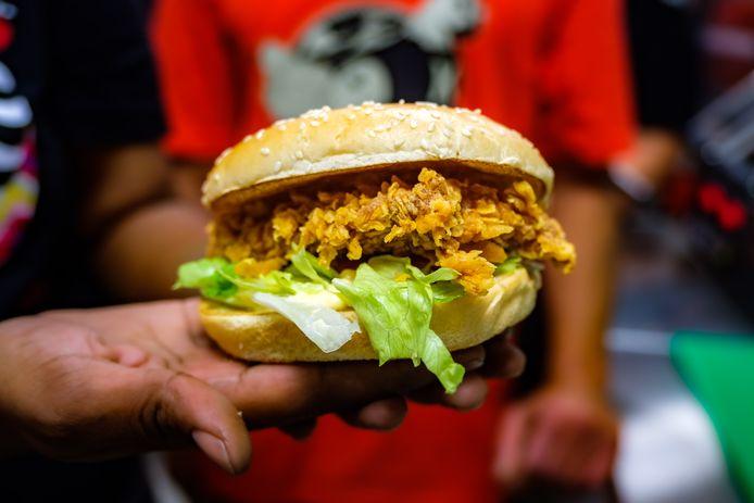 Opening KFC restaurant in Wijnegem Shopping.
