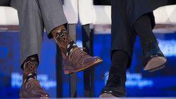 VN-vergadering of niet: Canadees premier Trudeau draagt wat hij wil aan de voeten