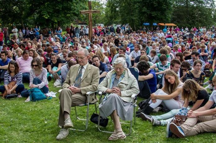 De Vrije Evangelisatie Zwolle tijdens een openlucht-activiteit.