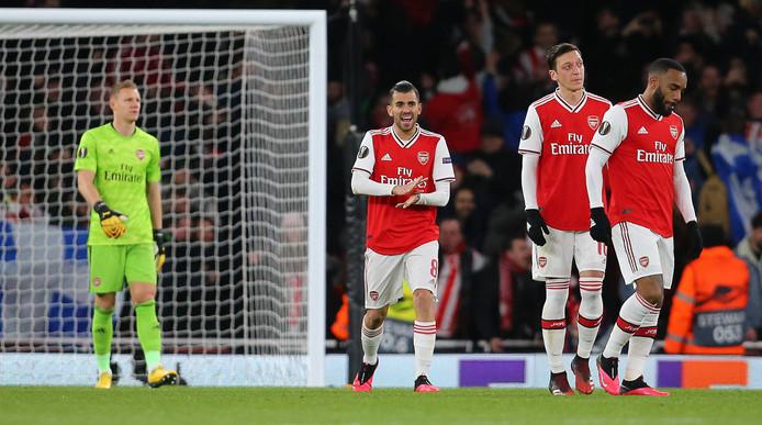 Arsenal werd door Olympiakos uitgeschakeld in de Europa League.