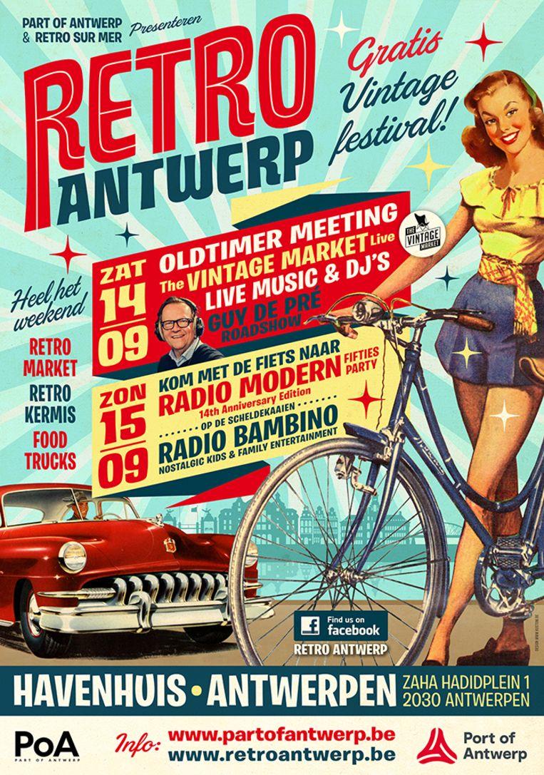 De affiche van Retro Antwerp.