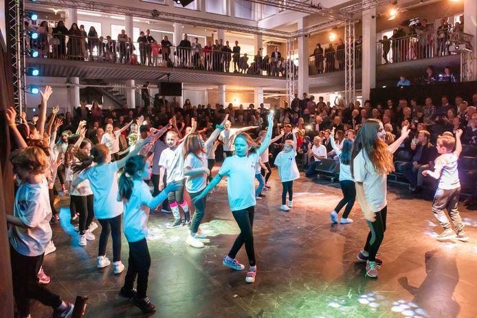 Leerlingen van de International School in Breda tijdens de opening eerder dit jaar.