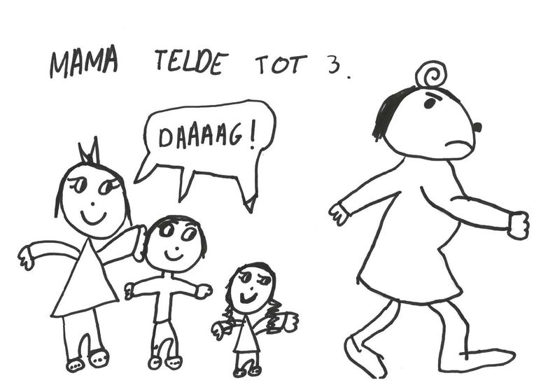 Hannes oudste dochter, 'Maxikind' (7), maakte de illustraties voor haar boek.