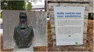 """Stad zet Leopold II terug op zijn sokkel met boodschap: """"Halle zwicht niet voor vandalen"""""""