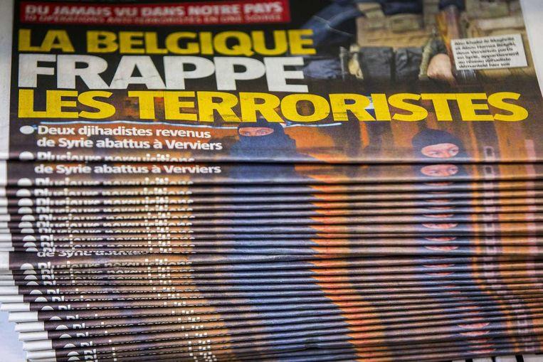 Een stapel kranten in Verviers. Beeld anp