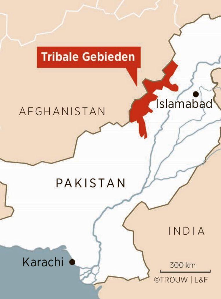 De tribale gebieden zijn ingeklemd tussen Afghanistan en Pakistan.  Beeld RV