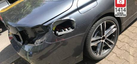 Dieven knippen gat in auto om alarm uit te schakelen