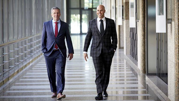 Louis Bontes (r) en Joram van Klaveren (l) van Voor Nederland. Beeld anp