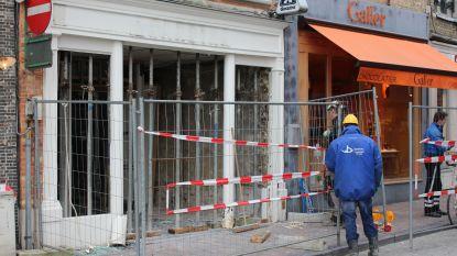 Winkelpand in Steenstraat dreigt in te storten