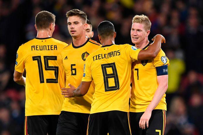 België won maandag op Hampden Park met 0-4 bij Schotland.