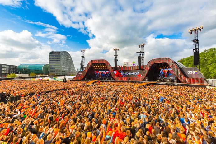 Het Chasséveld kleurde vorig jaar oranje tijdens 538Koningsdag.