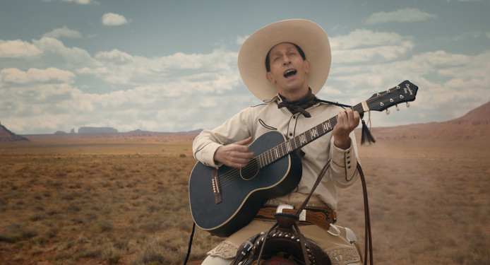 Tim Blake Nelson is Buster Scruggs in The Ballad of Buster Scruggs.