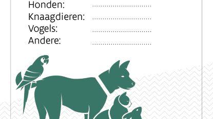 Gratis huisdierstickers aan onthaal administratief centrum Sanitary