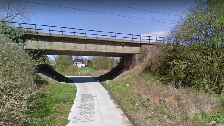 De fietssnelweg loopt vanaf de Kouterwegel richting station Melle.