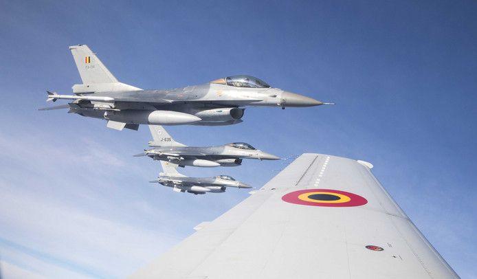 Nederlandse en Belgische F-16's in actie